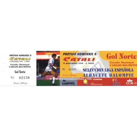 "Spain National Team vs Albacete ""Homenaje a Catali"""