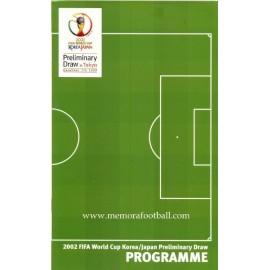 Programa 2002 FIFA World Cup Pleliminary Draw