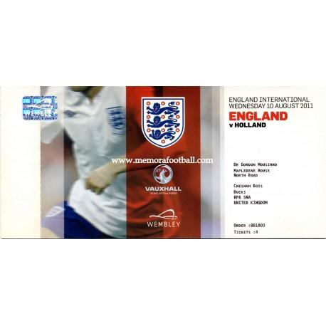 England v Holland 10/08/2011
