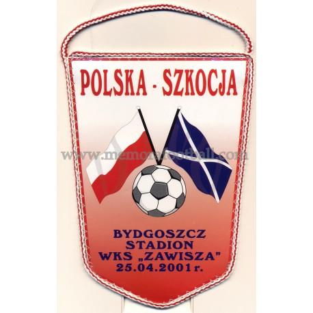Poland v Scotland 25-04-2001 mini pennant
