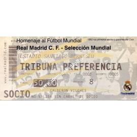 Real Madrid CF vs Selección Mundial. Partido del Centenario 2002