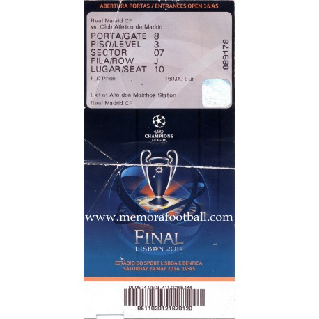 Real Madrid v Atlético de Madrid 2013-14 Champions League ticket