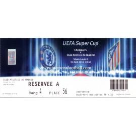 Chelsea v Atlético de Madrid 31-08-2012