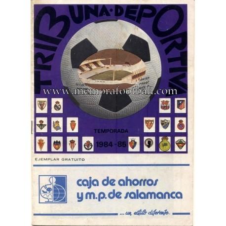 Real Valladolid v Sporting de Gijón 1984-85 programa