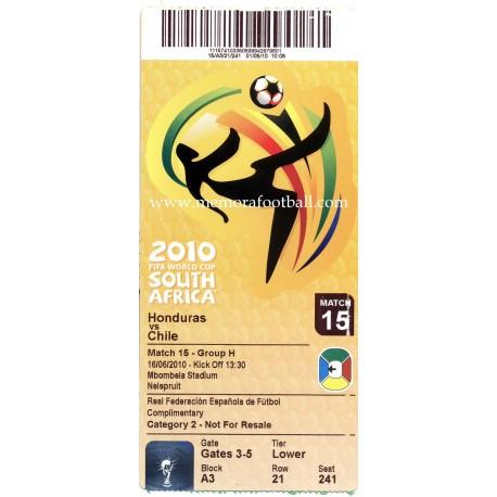 Honduras vs Chile - 2010 FIFA World Cup ticket