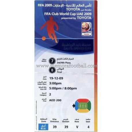 FIFA Club World Cup UAE 2009 Final ticket