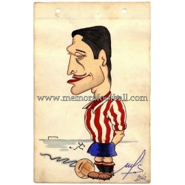 "Luis Alonso ""VIGIL"" Real Gijón 1942 caricature"