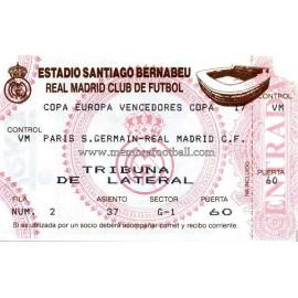 Entrada Real Madrid vs Paris Saint Germain (02-03-1993)