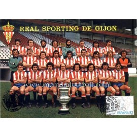 Sporting de Gijón 1979 big postcard