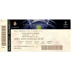 Real Madrid v Apoel FC 2011-12 Champions League