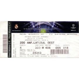 Real Madrid v Bayern Munich 2011-12 Champions League