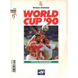 1990 FIFA World Cup Official Programme UK Edition