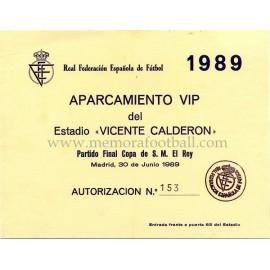 Final Copa del Rey 1989 Real Madrid vs Real Valladolid