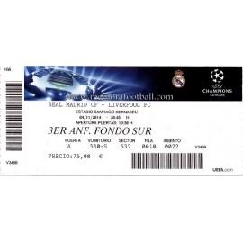 Real Madrid vs Liverpool 2014-15 Champions League