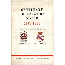 Stoke City v Real Madrid Centenary Celebration Match 24-04-1963 programme