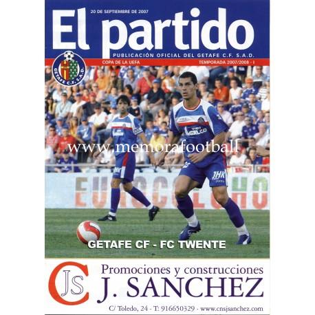 Getafe CF v FC TWENTE - UEFA Cup 2007/2008 Official Programme