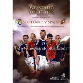 Scotland v Spain UEFA Euro 2012 Qualifier Programme