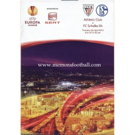 Athletic Club v FC Schalke 04 - UEFA Europa League 05-04-2012 Official Programme