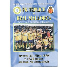 FK Teplice v Real Mallorca - UEFA Cup 1999/2000 programme