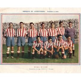 Lámina Sporting de Gijón 1945-46