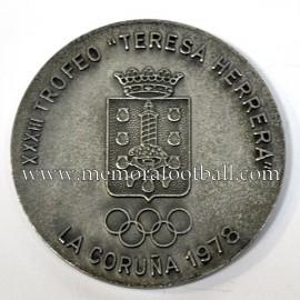 Medalla Real Madrid 1978 Conmemorativa Trofeo Teresa Herrera