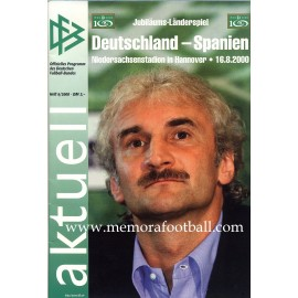 Germany v Spain 16-08-2000 Frindly Match programme