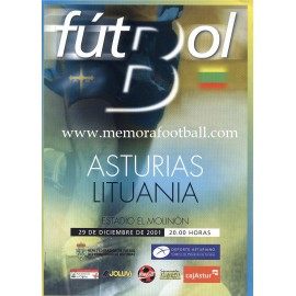 Asturias v Lithuania 29-12-2011 Friendly match programme