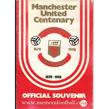 Manchester United v Real Madrid 1978 Centenary Match programme
