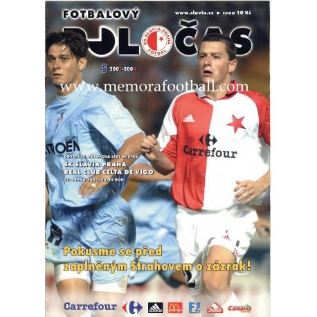 SK Slavia Praha v Celta de Vigo 2003/2004 UEFA Champions League programme