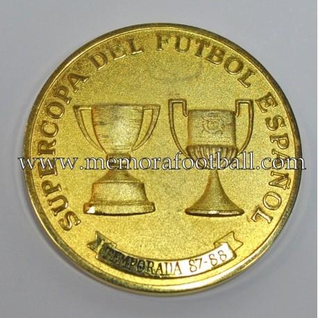 Real Madrid 1988 Spanish Super Cup medal vs FC Barcelona