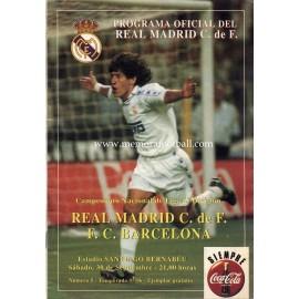 Real Madrid v FC Barcelona LFP 30/09/1995 Official programme