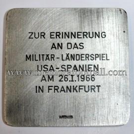 USA v Spain 26-01-1966 Friendly match medal
