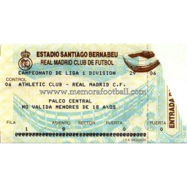Real Madrid vs Athletic Club 27-11-98 entrada