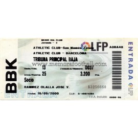 Athletic Club vs FC Barcelona 16-09-2000