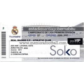 Real Madrid vs Athletic Club 2006-2007