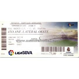 Real Madrid vs AT Osasuna LFP 2010-11 entrada