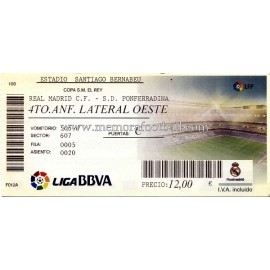 Real Madrid v Ponferradina 20-12-11
