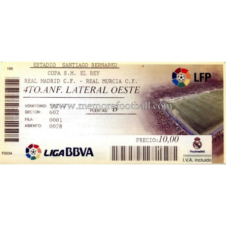 Real Madrid v Real Murcia 10-11-10