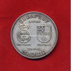 Real Madrid v Videoton 1985 UEFA Cup Final commemorative silver medal