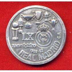 Real Madrid 60 Anniversary - Santiago Bernabéu Stadium 15 Anniversary, commemorative medal