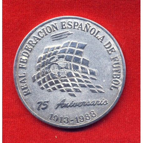 Spanish FA 75th Anniversary, commemorative silver medal