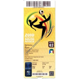 Germany vs Spain - 2010 FIFA World Cup ticket