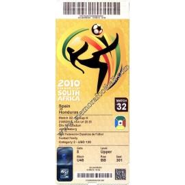 España vs Honduras - FIFA World Cup Sudáfrica 2010 ticket