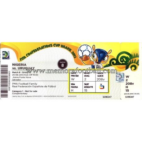 Nigeria vs Uruguay 20-06-2013