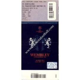 2011 UEFA Champions League Final ticket