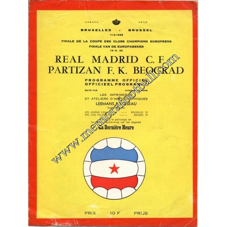 Real Madrid vs Partizan Final Copa de Europa 1966