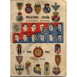 Spanish League 1961-1962 football calendar