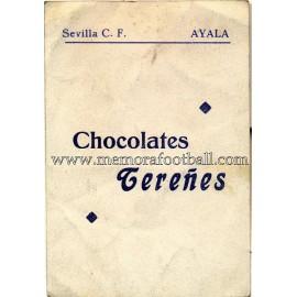 """""""AYALA"""" Sevilla CF 1950-52 card"""