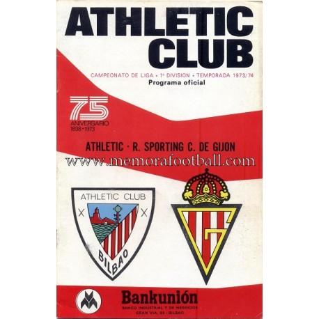 Athletic Club vs Sporting de Gijón 1973-74 official programme