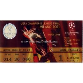 UEFA Champions League Final 2001 ticket